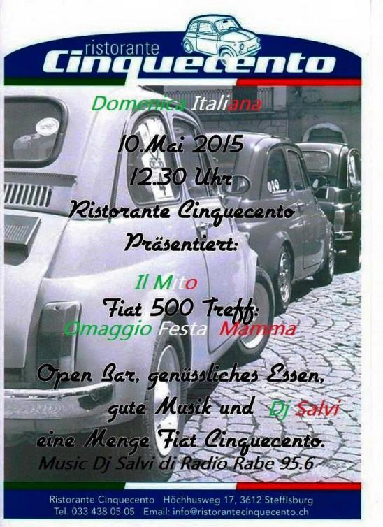 10. Mai Fiat 500 Treff